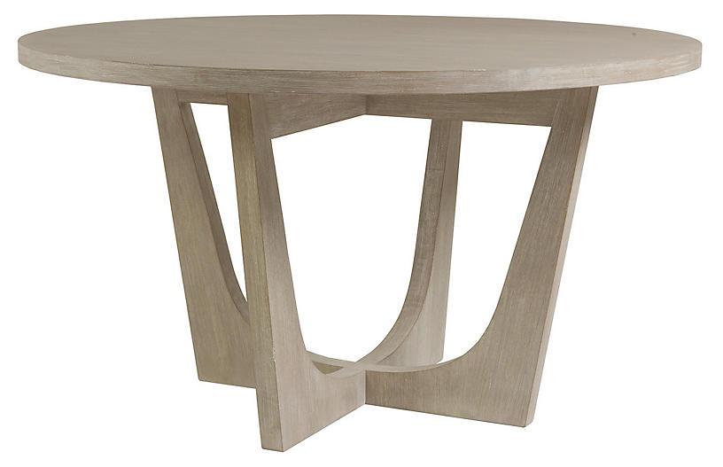 Brio Round Dining Table, Bianco White