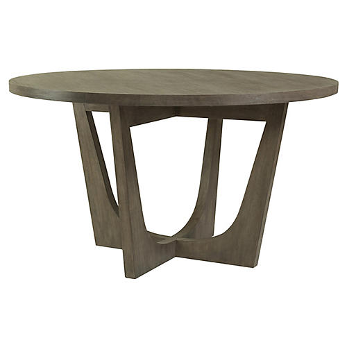 Brio Round Dining Table, Grigio Warm Gray