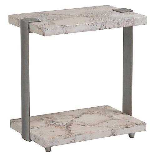 Corrina Side Table, Ivory