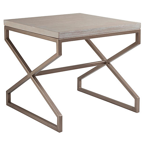 Edict Side Table, Bianco