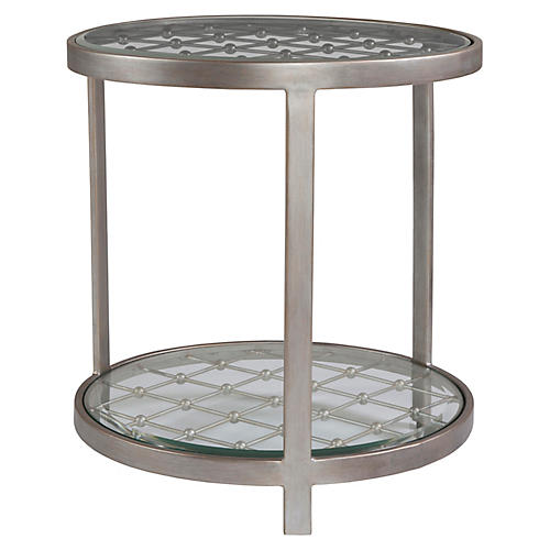 Royere Side Table, Argento