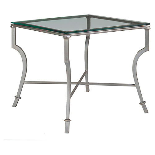 Syrah Side Table, Argento
