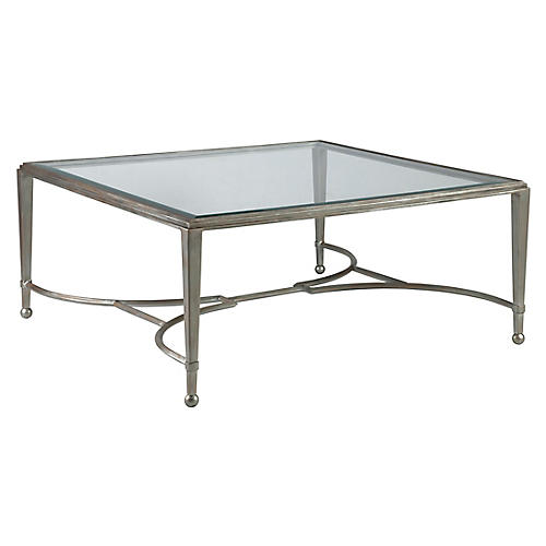 Sangiovese Square Coffee Table, Argento Silver
