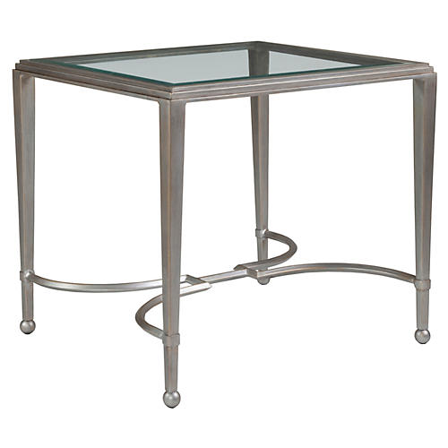 Sangiovese Side Table, Argento Silver