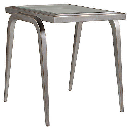 Mitchum Side Table, Argento Silver