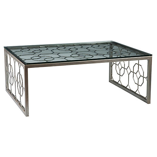 Honeycomb Coffee Table, Argento Silver