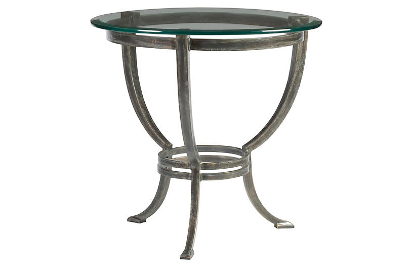 Andress Side Table, St. Laurent Iron