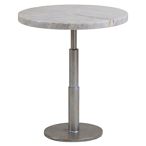 Spire Side Table, Argento