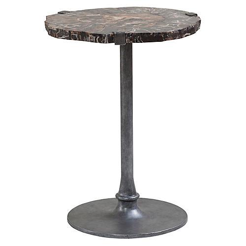 Kane Side Table, Antiqued Iron
