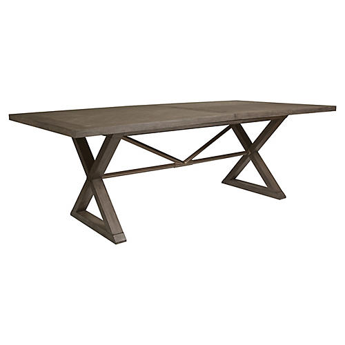 Ringo Extension Dining Table, Grigio Warm Gray