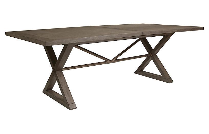 Ringo Extension Dining Table, Grigio Warm Gray