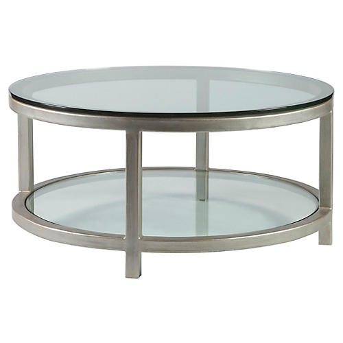 Per Se Round Coffee Table, Argento Silver