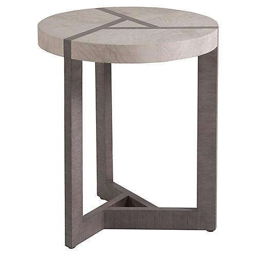 Mercury Side Table, White Oak/Gray