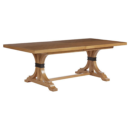Oceanfront Extension Dining Table, Sandstone