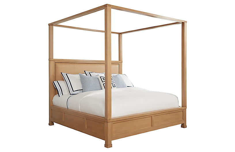 Shorecliff Canopy Bed, Tan