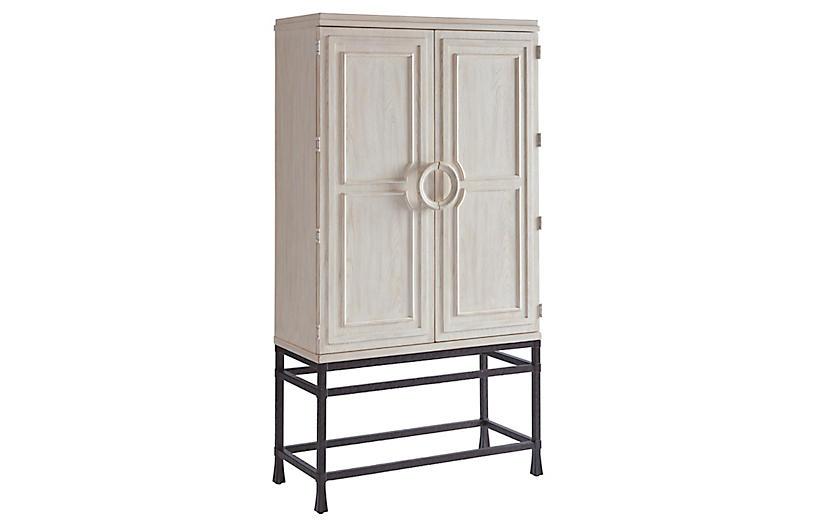 Jade Bar Cabinet, Whitewash