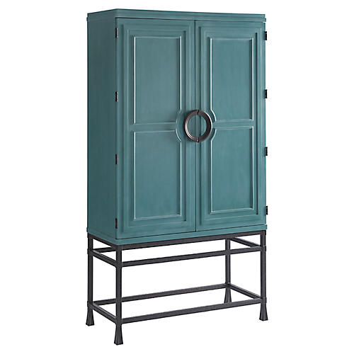 Jade Bar Cabinet, Seaglass