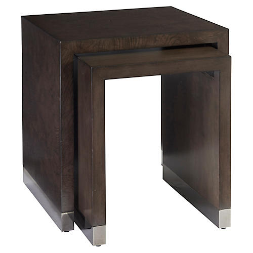 Asst. of 2 Brook Nesting Tables, Wilshire Brown