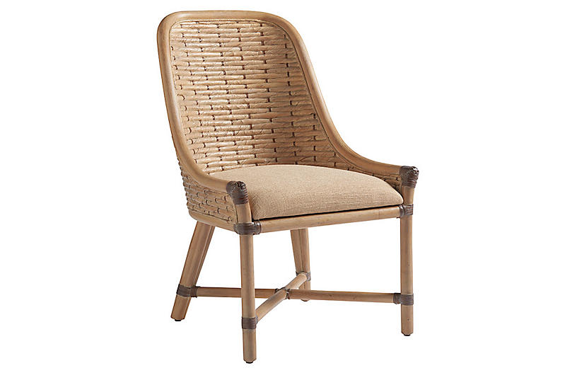 Keeling Woven Side Chair, Natural