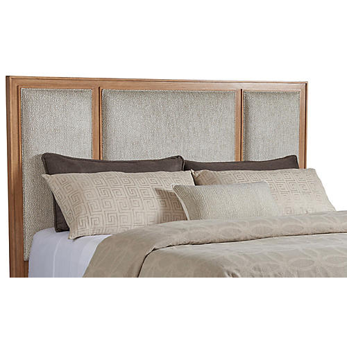 Crystal Cove Headboard, Gray/Beige