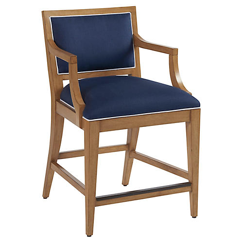 Eastbluff Counter Stool, Indigo Linen