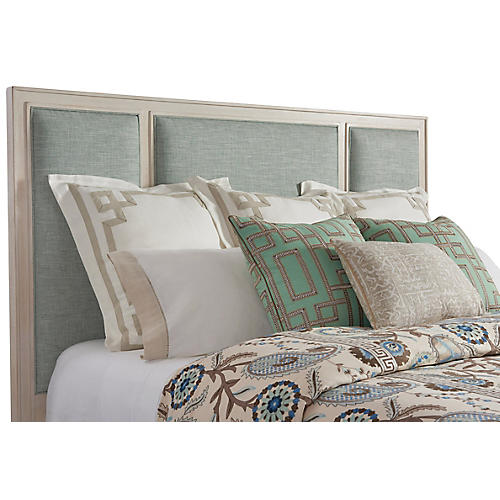 Crystal Cove Headboard, Sea Glass