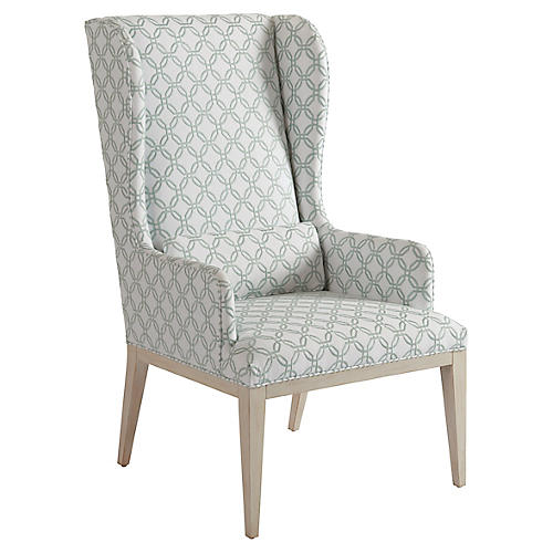 Seacliff Wingback Armchair, Sage