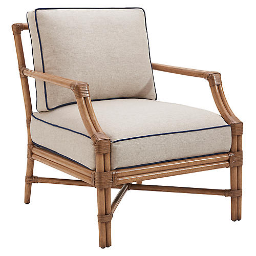 Redondo Accent Chair, Sand/Navy