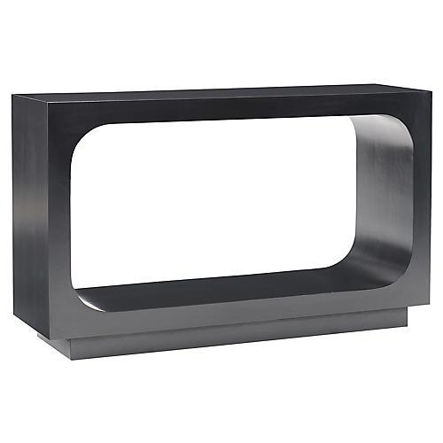 Circle Square Console, Black Walnut