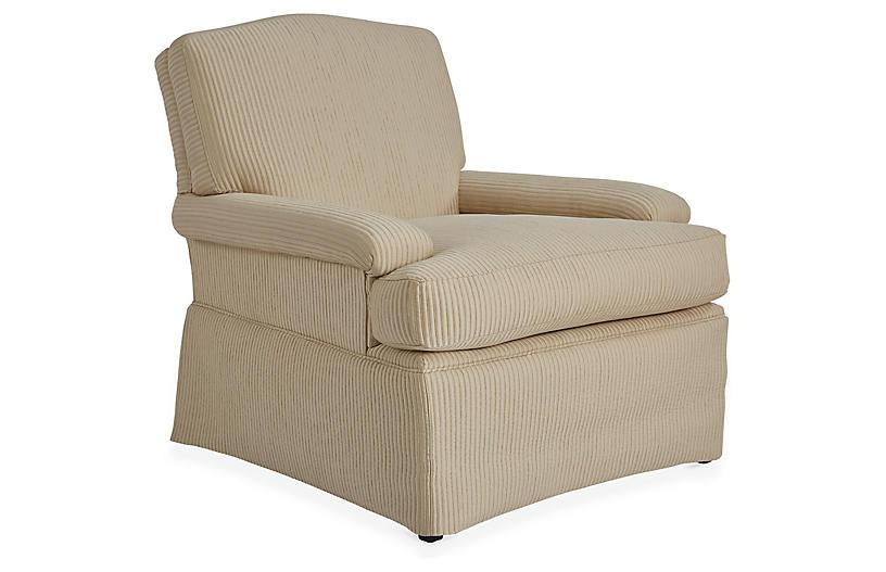 Oxford Club Chair, Natural