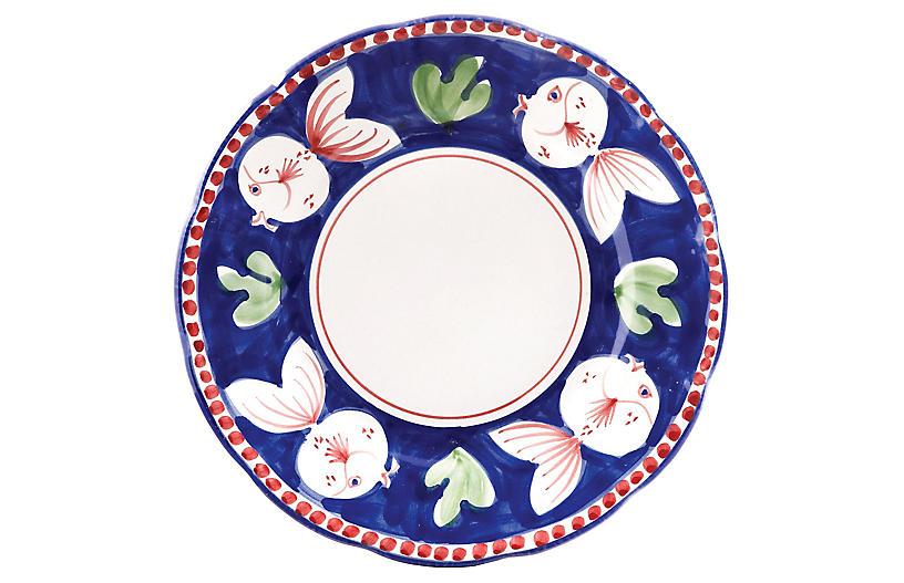 Pesce Dinner Plate, White
