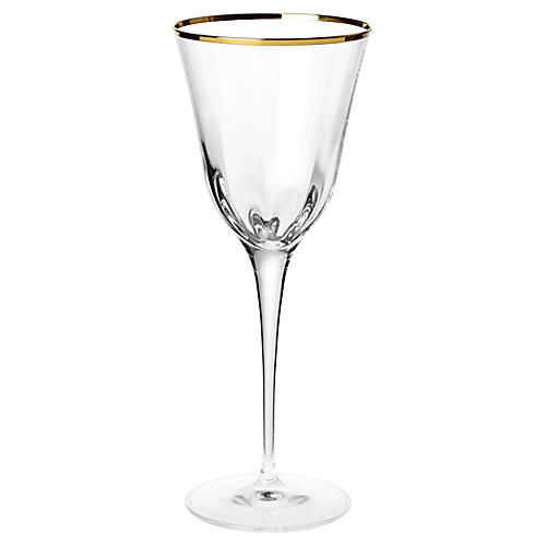 Optical Water Glass, Clear/Gold
