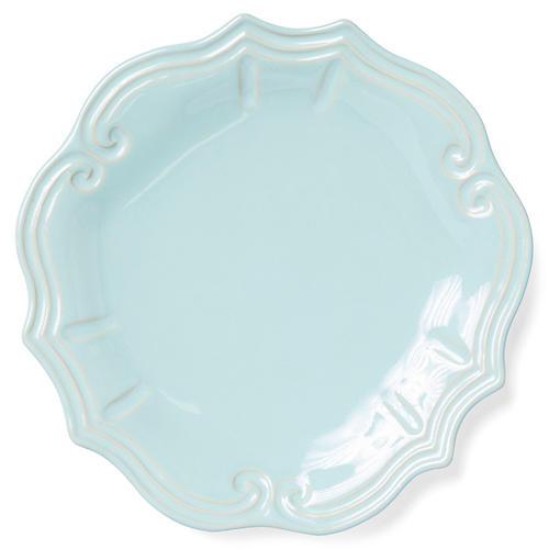 Incanto Stone Baroque Dinner Plate, Aqua