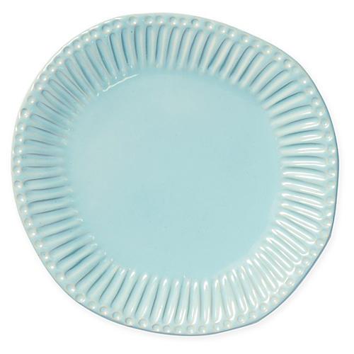 Incanto Stone Stripe Dinner Plate, Aqua