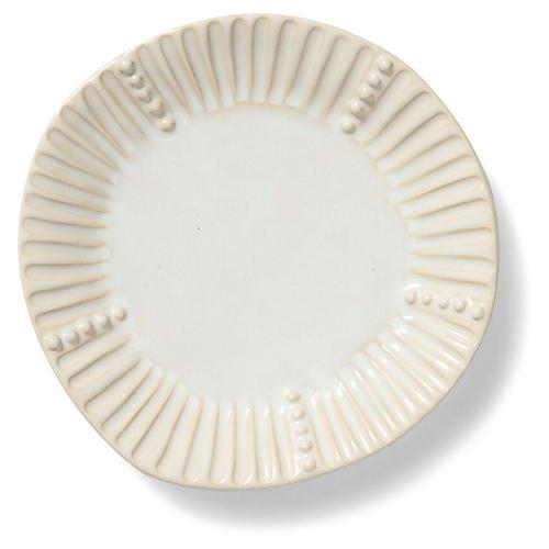 Incanto Stone Striped Salad Plate, Linen