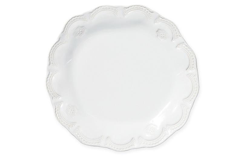 Incanto Stone Lace Salad Plate, White