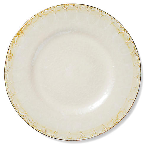 Perla Round Platter, Pearl/Gold