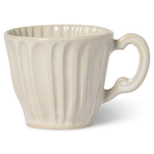 Incanto Stone Striped Mug, Linen