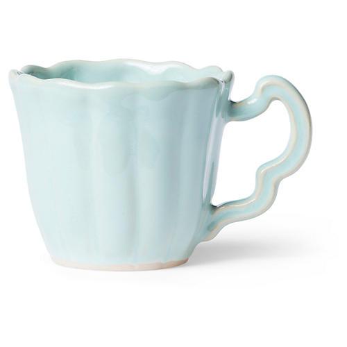 Incanto Stone Scalloped Mug, Aqua