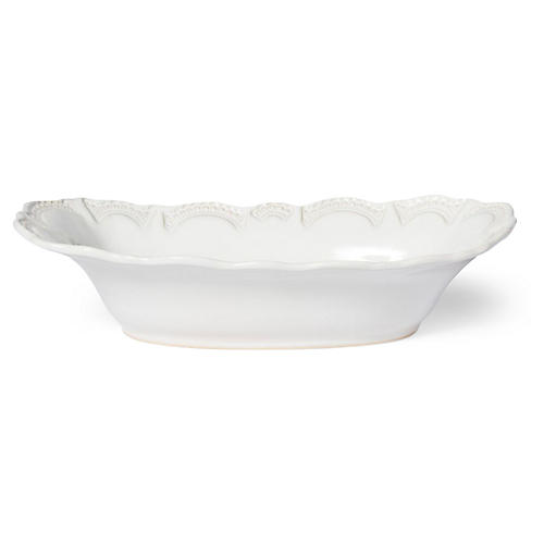 Incanto Stone Lace Au Gratin Dish, White