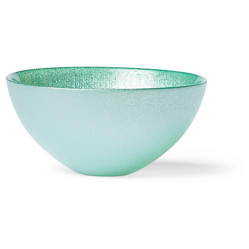 Glitter Serving Bowl, Aqua