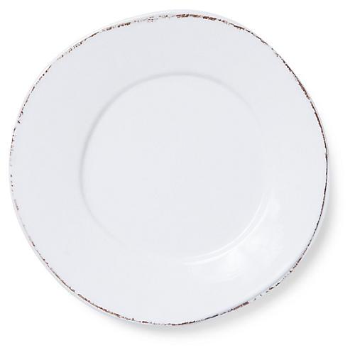 Lastra Melamine Dinner Plate, White