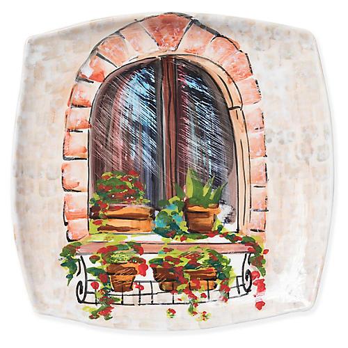 Closed Window Wall Plate, Beige/Multi
