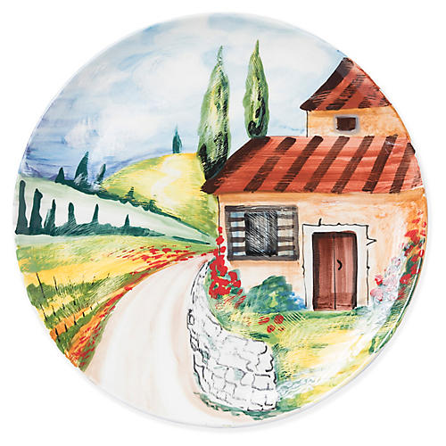 Countryside Wall Plate, Green/Multi