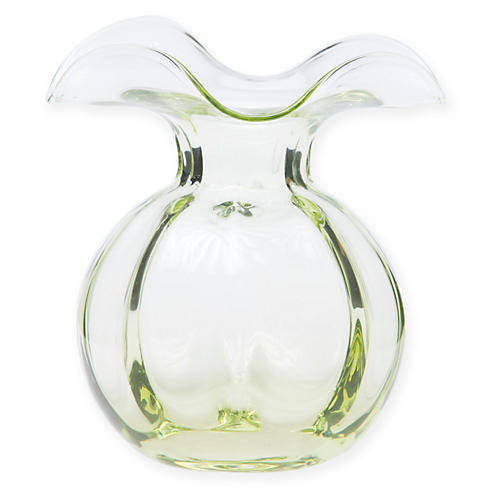 "6"" Hibiscus Vase, Green"