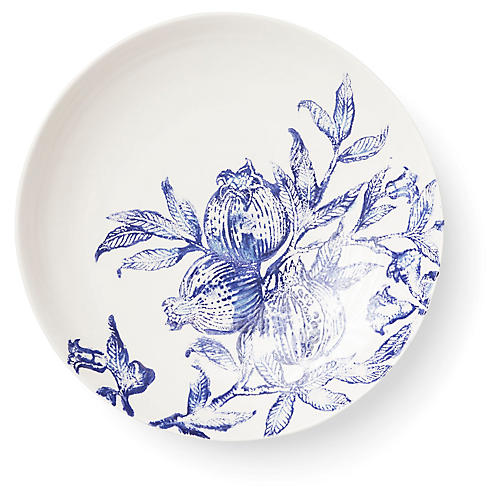 Melagrana Serving Bowl, Blue/Ivory