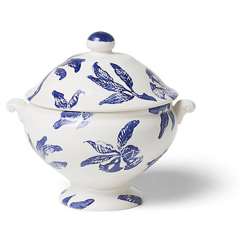 Melagrana Soup Tureen, Blue/Ivory