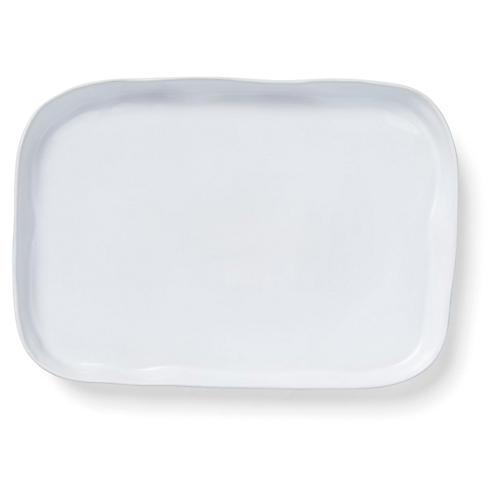 Aurora Rectangular Platter, Snow