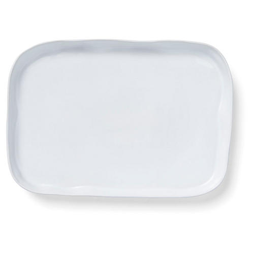 Aurora Rectangular Platter, Snow