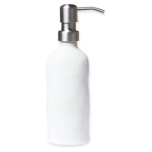 Essentials Soap Dispenser, Matte White